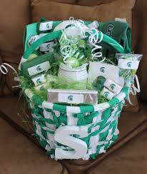 michigan state spartans easter basket spartan swag pinterest