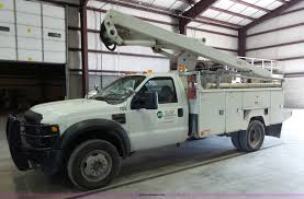 electric truck for sale 2008 ford f550 super duty xl bucket truck item l7078 sol