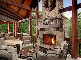 wrap around deck rustic deck with outdoor fireplace wrap around porch nativefoodways