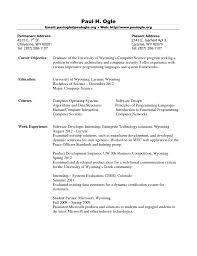 Sample Resume For Freshers Engineers Computer Science by Fresh Graduate Computer Science Resume Template Example Resume