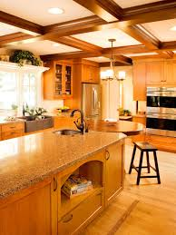 stylish kitchen renovated for optimal use rebecca lindquist hgtv tags kitchens neutral photos transitional style coffered ceiling