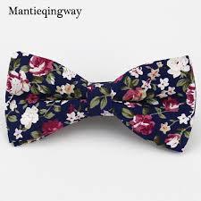 floral bowtie 2018 mantieqingway men s cotton floral bowtie brand popular