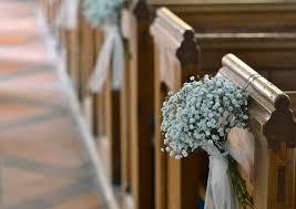 pew bows decorate church for wedding wedding pew bows