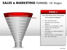 funnel conversion sales process diagram powerpoint slides and ppt