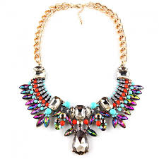 multi colored necklace images Festive glam aurora borealis multicolored crystal rows statement jpg