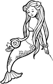 mermaid black white free printable mermaid clipart u2013 gclipart