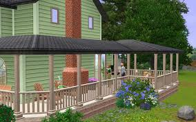 How To Build A Wrap Around Porch by Www Carls Sims 3 Guide Com Buildedit Houses Interm