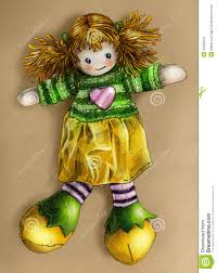rag doll stock illustration image of picture drawn 45259416