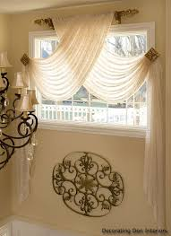 Curtain Design Ideas Decorating Attractive Swag Sheer Curtains Designs With Best 20 Window Scarf