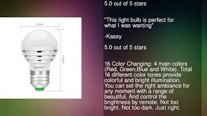 warmoon rgb led light bulbs 16 colors changing dimmable multi
