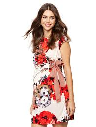 taylor side tie maternity dress floral a pea in the pod maternity