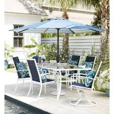 White Aluminum Patio Furniture by Members Mark Agio Collection Heritage Dining Set Patio Dining