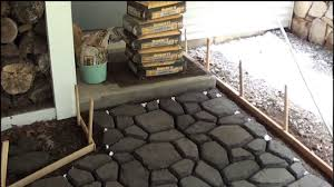Patio Block Molds by Cobblestone Walkway Installation June 2011 Youtube