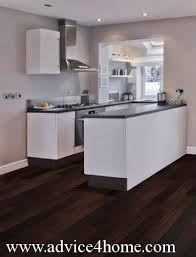 White Kitchens With Dark Floors by Flooring Advice For Home