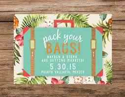 destination wedding save the date ideas destination destination save the date tropical save the date pack your