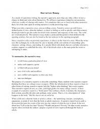 Examples Of Expository Writing Essays Writing A Narrative Essay Examples Narrative Essay About Life