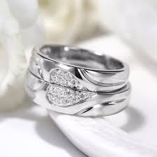 vancaro wedding rings exquisite his hers 925 sterling silver with white gold plated