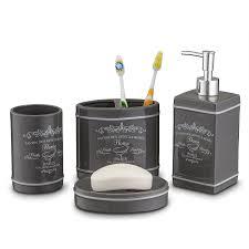 Bathroom Hardware Sets Amazon Com Home Basics 4 Piece Paris Collection Bathroom