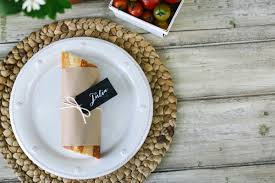 diy baguette place card holder evite