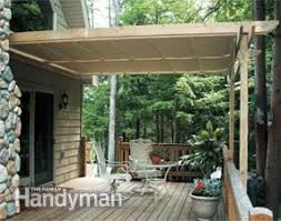 Pergola Coverings For Rain by How To Shade Your Deck Or Patio Family Handyman