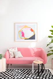 Color Sofa Pink Sofas An Unexpected Touch Of Color In The Living Room Living