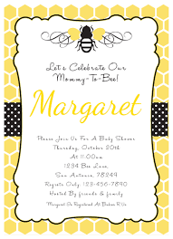 How To Design A Invitation Card Bumble Bee Baby Shower Invitation Theruntime Com