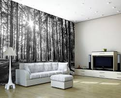 black white forest decorating wallpaper photo wall mural art 223