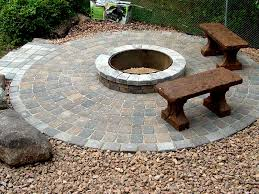 Stone Patio With Fire Pit The Best Fire Pit Designs And Compliments The Home Design