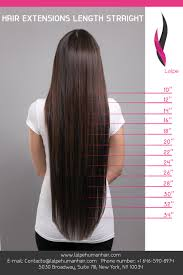 Hair Extension Lenghts by Product Cataloging Lalpe Human Hair