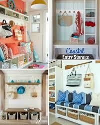 Entryway Organizer Ideas Simple Coastal Entryway Storage Ideas With Benches U0026 Wardrobes