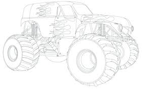 monster truck coloring pages free printable printables for