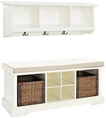 amazon com crosley furniture brennan entryway storage bench and
