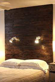 bedroom brown wooden wall headboards grey matresses white