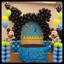 baby mickey 1st birthday baby mickey 1st birthday balloons decor marvelous baby mickey