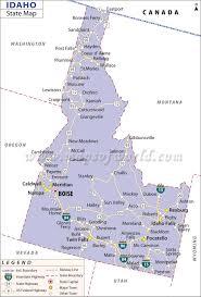 map us idaho map of idaho state map of usa united states maps