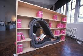 Unusual Bookcases Stylish Seating Arrangements With Built In Bookcases