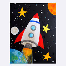 space art for kids rocket blast off activities for toddlers