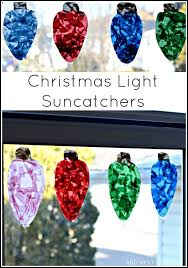 Holiday Crafts Pinterest - giant christmas light suncatchers christmas craft for kids