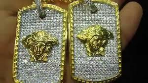 Custom Gold Dog Tags Bead Chain Medusa Double Dog Tag Army Style Custom By Mr Chris Da