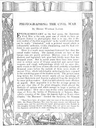 photographic histories of the civil war and the first world war