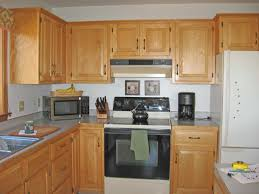 Kitchen Design Oak Cabinets Kitchen Old Kitchen Still Pristine Red Oak Partial Overlay Crown