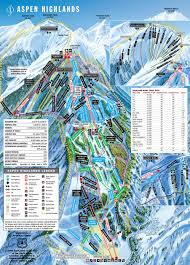 Utah Ski Resort Map by Aspen Highlands Ski Trail Map Colorado Ski Resort Maps