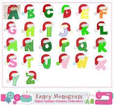 images of christmas letters christmas letters appliquesanta claus monograms