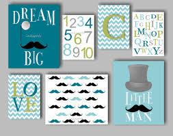 little man nursery baby boy nursery art mustache dream big zoom