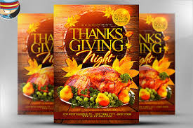 18 thanksgiving flyers free psd ai eps format free
