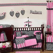 bedroom design pretty mix of gray and pink crib bumper with baby