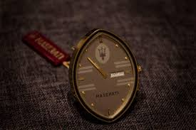 maserati biturbo clock for sale original maserati gold plated desk clock alarm