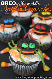 Halloween Spider Cakes by Halloween Oreo Stuffed Spider Cupcakes