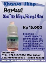 Obat Tetes Telinga Dan Harganya herbal khansaonlineshop