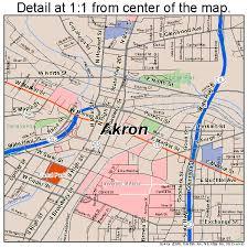 of akron map akron ohio map 3901000